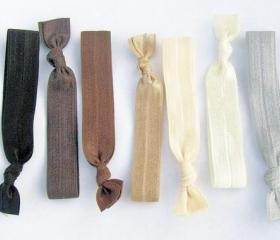 7 Hair Ties, Ombre Naturals by Lucky Girl