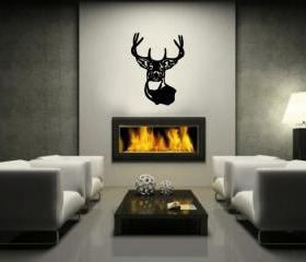 Deer Head Vinyl Wall Decal 22219