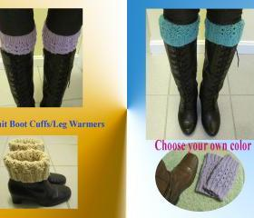 Knit Boot Cuffs /Boot Toppers/Leg Warmers - Choose your color (KBC1)