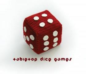 Tabletop Jingle Dice Games Crochet PATTERN, SYMBOL DIAGRAM (pdf)