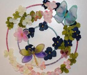 Butterfly Garden Wreath (candle ring)