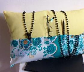  Yellow decorative cover for pillows 'organizer' - 19 x 12 inch