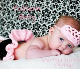 Princess Diaper Cover and Crown Crochet Pattern