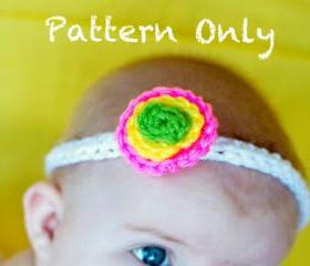 Polka Dot Headband Crochet Pattern