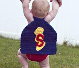 Super Baby Crochet Cape and Diaper Cover Pattern