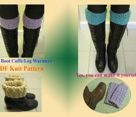 Knit Pattern - Boot Cuffs/Boot Toppers/Leg Warmers (26VC2012)