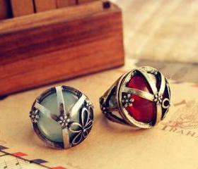 Retro Peace Rings