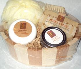 Fragrance Free Bath and Body Gift Set with Natural Soap and Shea Butter