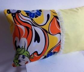  Yellow decorative cover for pillows - 20 x 12 inch