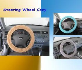 Knit Steering Wheel Cover, Wheel Cozy - Choose your own color (SWC5,6,7)