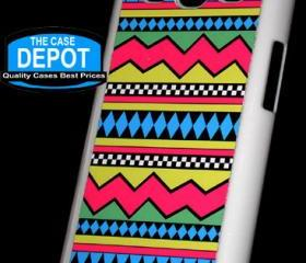 Samsung Galaxy S3 SIII Tribal Pattern Pastel Print Hard Case