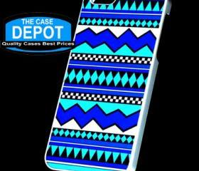 iPhone 5 Turquoise Color Tribal Print Hard Case AT&T Verizon Sprint all Models