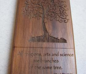 Iphone 4 case - wooden cases bamboo, cherry and walnut wood - Tree - laser-engraved