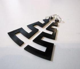 cut the groove - coarse - vinyl laser cut earrings