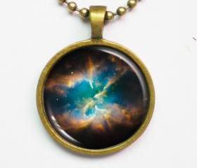 Planetary Nebula Necklace - NGC 2818 - Cosmic Jewelry - Galaxy Series