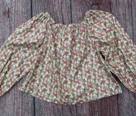 Toddler girls holiday peasant top Size 3