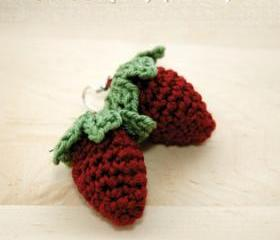 Crochet Strawberry Earrings PATTERN, SYMBOL DIAGRAM (pdf)