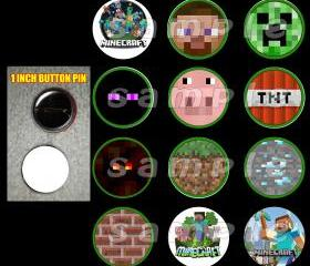 Minecraft Set of 12 Buttons Make Great Party Favors