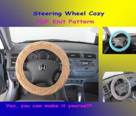 Knit Pattern - Steering Wheel Cozy/Cover (27VC2012)