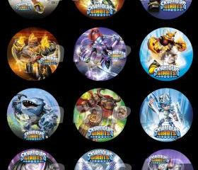Skylanders Giants Set of 12 2.5-Inch Round Personalized Stickers or Cupcake Toppers-Page 1