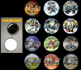 Skylanders Giants Set of 12 Buttons Make Great Party Favors - Page 2