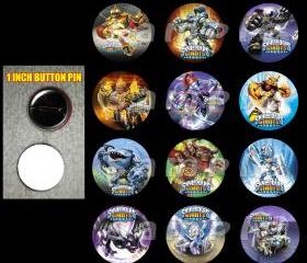 Skylanders Giants Set of 12 Buttons Make Great Party Favors - Page 1