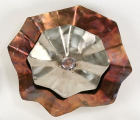  Stainless Steel Large Hammered Flower