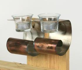 Stainless Steel Wall Votive Candle Holders (Discount When You Buy Two)