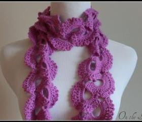 Pink Crochet Scarf Queen Annes Lace