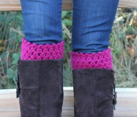 Pick Your Color Crochet Boot Cuffs Leg Warmers Boot Socks