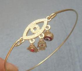 Evil Eye Bangle Bracelet Style 4