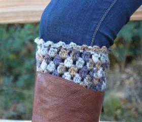 Crochet Boot Cuffs Leg Warmers Boot Socks Multicolor