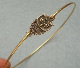 Little Owl Bangle Bracelet