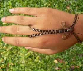 Steampunk Bracelet - Zip-On Bracelet