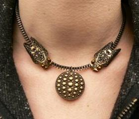Steampunk Necklace - Zipper Necklace