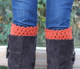 Crochet Boot Cuffs Leg Warmers Boot Socks Pumpkin