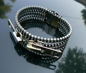 Industrial Zipper Bracelet