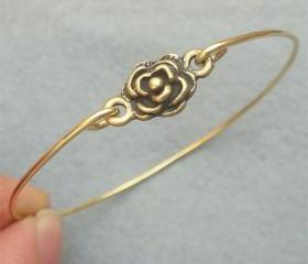 Flower Bangle Bracelet Style 7