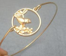 Bird Bangle Bracelet Style 5