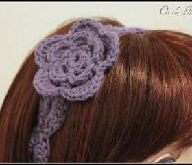 Purple Flower Headband Crochet