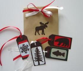Set of 4 Rustic Metal Tags
