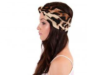 Leopard Turban Headband Earwarmer