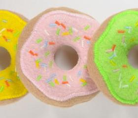 Frosted Donuts with Sprinkles Catnip Cat Toy
