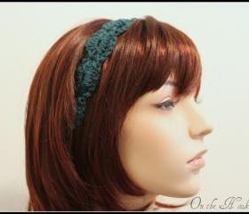 Headband Crochet Teal Hair Tie