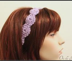 Purple Headband Crochet Hair Tie