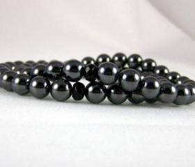 Intellect Hematite Meditation Bracelet set with Black Onyx Yogi Bead, Energy Jewelry, Free Shipping