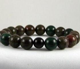 Fairness Cappuccino Jasper Energy Bracelet with Black Onyx Yogi Bead, Meditation Bracelet, Free Shipping