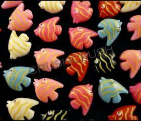  50pcs Sea Fish Resin Flat Back Cabochons Animals Sea F594