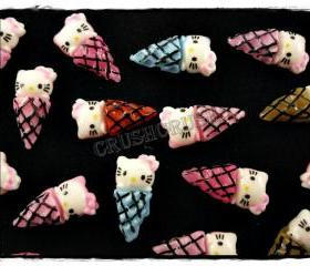50pcs ice Cream CUPCAKE CANDY Hello Kitty Flat Back Cabochons F555
