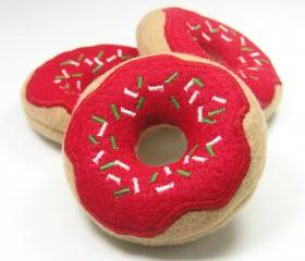 Christmas Morning Donut with Holiday Sprinkles Catnip Cat Toy